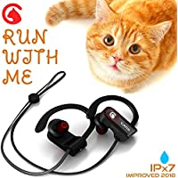CATIX Wireless Bluetooth Headphones - HD Sound - Best Wireless Earbuds with Mic Noise Cancelling - Sport Headphones - Running Headphones - Workout Headphones - IPX7 Waterproof Headphones for Women Men