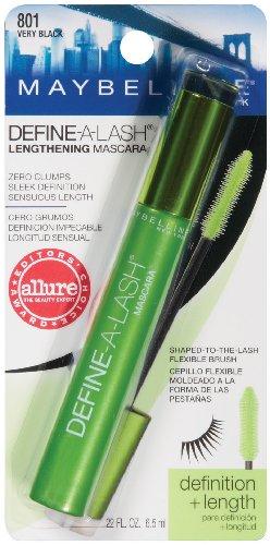 Maybelline New York Define-A-Lash Mascara Allongeant lavable, très noire, 0,22 once liquide