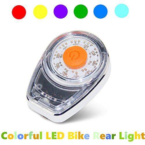 Uelfbaby Ultra Bright Bike Rear Light Safety Warning Flashing Lamp Alarm Light 6 Mode Bike Light 120 Lumen Waterproof USB Rechargeable Fits Cycling (Colorful)
