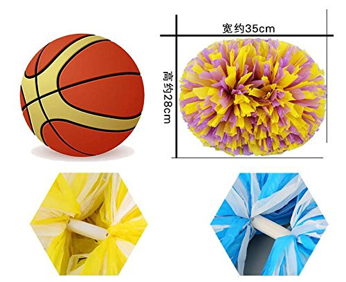 14 Poms Fun Cheering Cheerleading Spirited pouces Cheer 2PCS Squad vert Kit HzqxwX4d