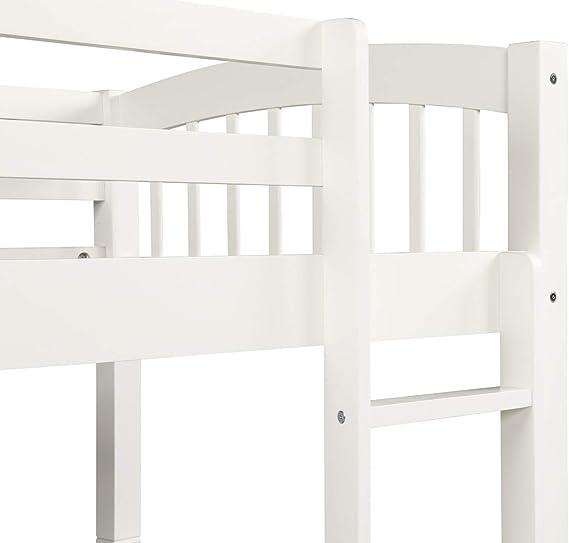 DERCASS Dercas - Litera de Madera Doble Desmontable con cajón, 3 cajones, Escalera y rieles de protección en la litera Superior: Amazon.es: Juguetes y juegos