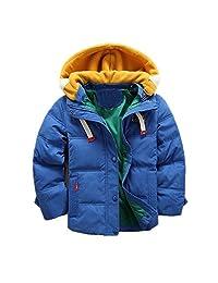 WEONEDREAM Children Boys Winter Duck Down Coats Kids Cotton Jackets Hooded