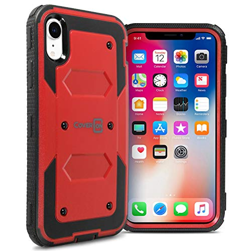 - CoverON [Tank Series] iPhone XR Heavy Duty Case, Protective Full Body Phone Cover with Tough Faceplate for Apple iPhone XR (6.1