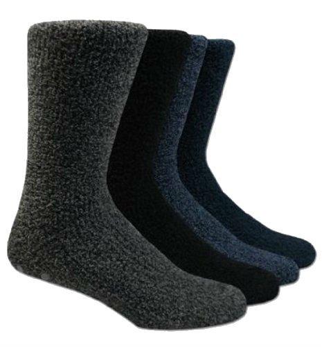 4 Pair Mens Cómodo Polar Suave Antideslizante Pantuflas/Calcetines - Surtido De Colores 6-11: Amazon.es: Ropa y accesorios