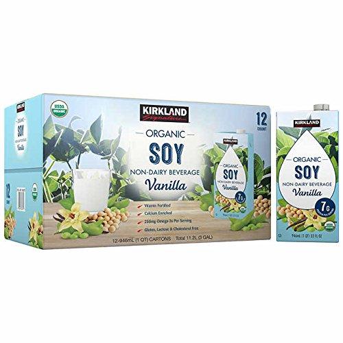 Kirkland Signature Organic Non-Dairy Vanilla Soy Beverage Cartons: 12 ct. (32 fl. oz)