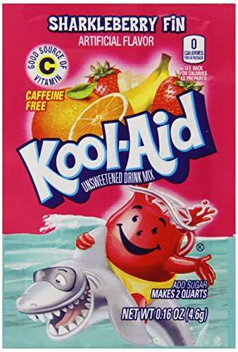 Kool-Aid Unsweetened Energy Drink, Sharkleberry Fin, .16 Ounce (Pack of 192) by Kool-Aid