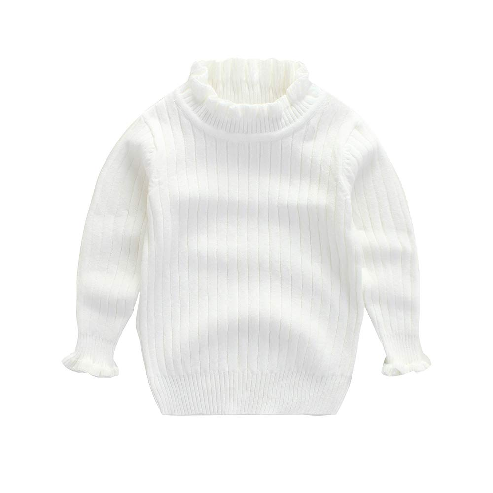 2d28943e36 ... WeddingPach Baby Girl Sweater Infant Warm Combed Cotton Cardigan Knit  Slim Collar Pullover 2-6T ...