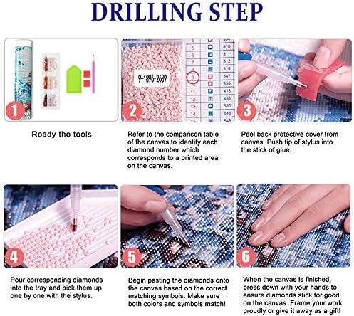 Diamond Painting 5D DIY by way of Number Kits for Adult Beach Scene Embroidery Pictures Art Craft Round Drill Crystal Rhinestone Decor Gift(ZSH-008)