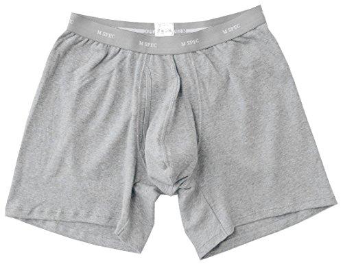 MSPEC Men's 3D-Crotch Breathable/Comfortable Knit Boxers Gray-Moku - Gray Boxers Knit