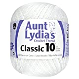 Coats Crochet and Floss Aunt Lydia 151.0201 Value Crochet Cotton, White