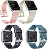 Vancle Replacement Bands Compatible with Fitbit Blaze Women Men, Classic Silicone Straps for Fitbit Blaze Smart Watch, Rose Gold, Gold, Black, Slate, Large