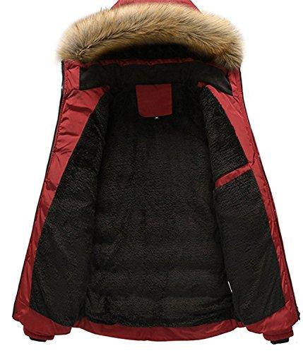 Abajo Invierno Chaquetas Hombres de Abrigos Hombre de Rojo SHUNLIU TqfOFXnZq