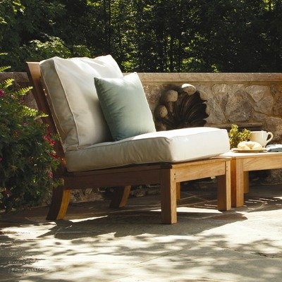 Monterey Sectional Deep Seating Armless Chair Fabric: Cocoa (Monterey Sectional)
