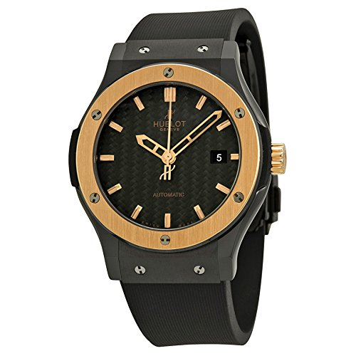 Hublot Classic Fusion Ceramic King Gold Black Dial Mens Watch 542.CO.1780.RX