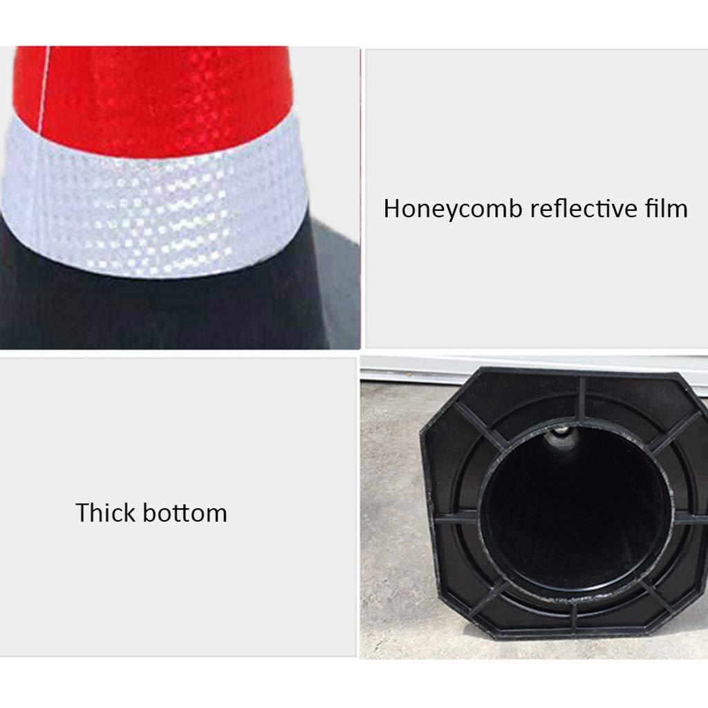 DUOER HOME Industria Barriere di Sicurezza Cono di Sollevamento Cono in Gomma Cono Isolamento Riflettente Coni di Sicurezza Color : 1 Packs, Dimensione : 64cm
