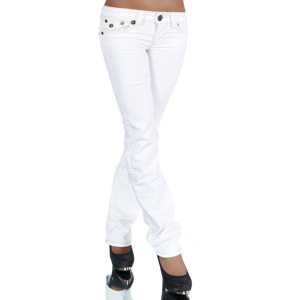 TALLA 42. H922–Pantalones vaqueros para mujer, corte por la cadera, pierna recta, costura gruesa