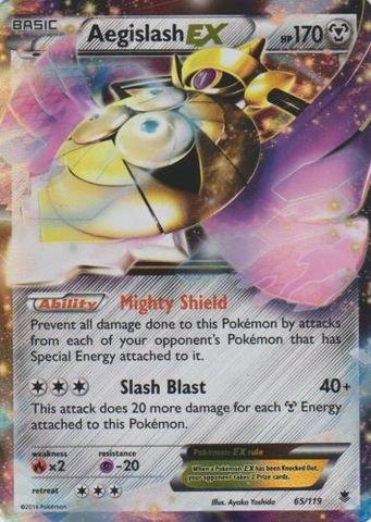 Pokemon - Aegislash-EX (65/119) - XY Phantom Forces - Holo Ex Single