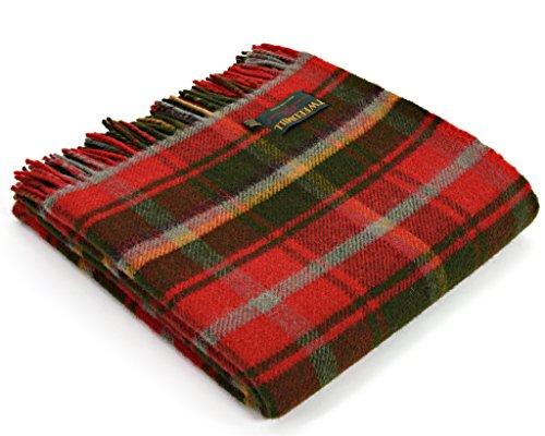 Tweedmill Tartan Throw Blanket - Pure New Wool (Dark Maple) ()
