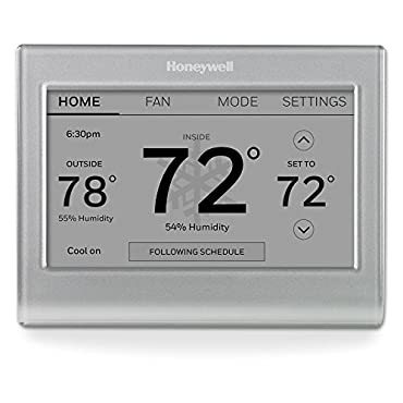 Honeywell RTH9585WF1004/W Wi-Fi Smart Color Programmable Thermostat, V. 2.0,C Wire Required