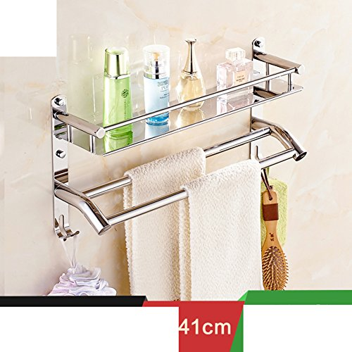 70%OFF Bathroom racks/Stainless steel Towel rack/Bathroom accessories/the shelf in the bathroom/Folding towel rack Wall-C