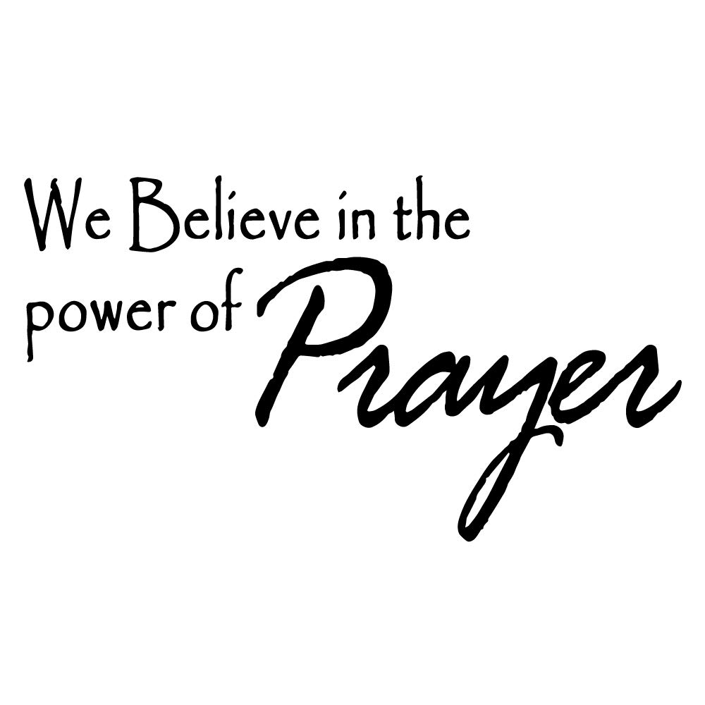 ZSSZ We Believe in The Power of Prayer – Wall Decal Vinyl Sticker Room Decor Religious Lettering Wall Art Letters…
