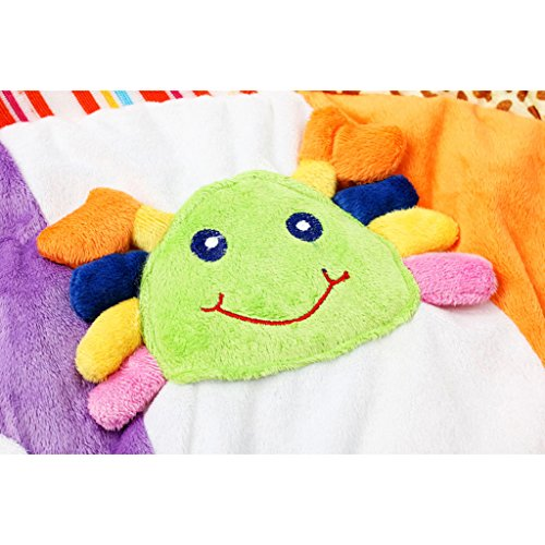 Dovewill Baby Musical Sensory Play Mat Animals Soft Cotton Play Gym - Fish, as described by Dovewill (Image #9)
