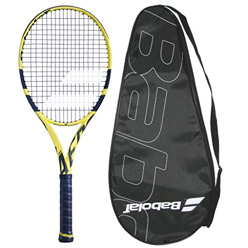 Babolat 2019 Pure Aero 26 Junior Tennis Racquet – Strung with Cover – Scaled Down Adult Technology – Get Your Child The Best – 4″ Grip