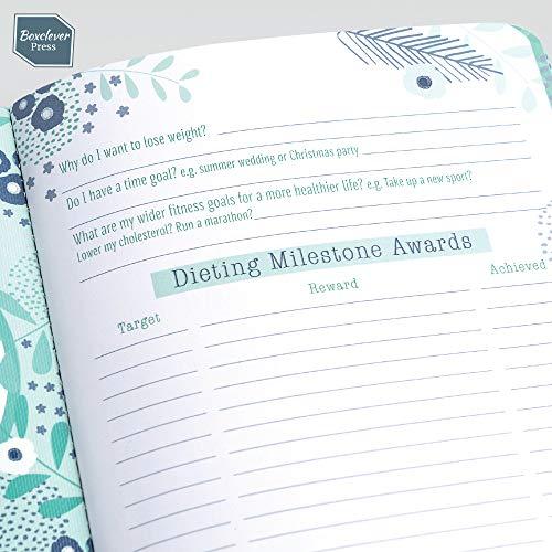 Boxclever Press Food Diary. Diario de alimentos compatible con Weight Watchers y planes de dieta. Tamaño A5, planificador diario de comida y fitness. ...