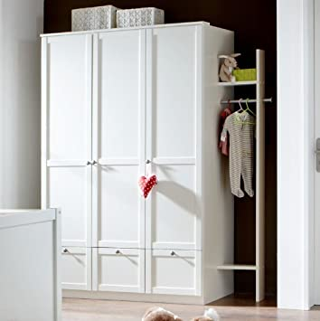 Kleiderschrank »LOUFI« in alpinweiß, mit Anbau-Garderobe, Landhaus ...