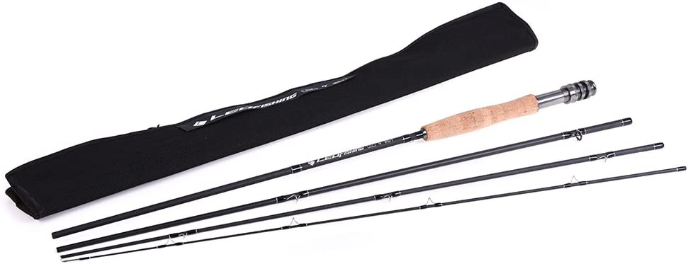 Carbon Fly Fishing Rod 9FT 2.7M 4 Section Fishing Rod Fishing Pole Soft Cork Handle Fly Rod Walmeck