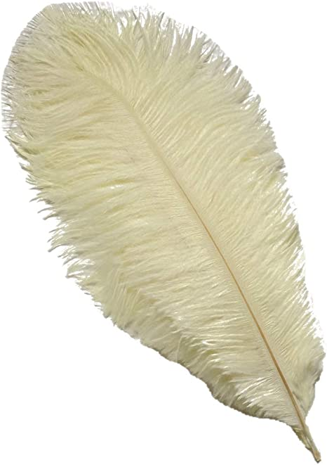 yellow 40-45cm Home Wedding Decoration Sowder 5pcs Ostrich Feathers 16-18inch
