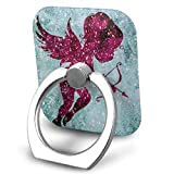 Square Finger Ring Stand 360°Rotation Phone Holder Grip Pink Cupid Anchor Kickstand for Smartphones and Ipad