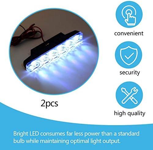 2x Xenon White 6 LED Super Bright DRL Daytime Running Driving Lights Fog Lamps Waterproof Vehicle Car Fog Lamp