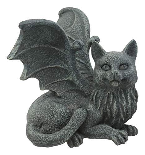 Ebros Gothic Winged Cat Gargoyle Shelf Sitter Statue 4