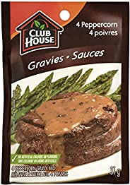Club House, Dry Sauce/Seasoning/Marinade Mix, 4 Peppercorn Gravy, 31g, Case Pack 12 Count