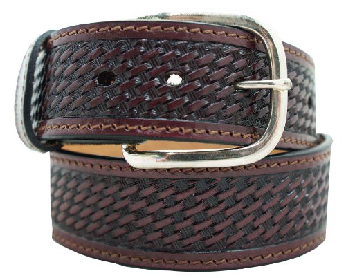 Basketweave Embossed Belt (Men's Casual Belt 1 1/2