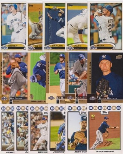 Milwaukee Brewers / 1000 Brewers Baseball Cards - All Different with 2018 Topps