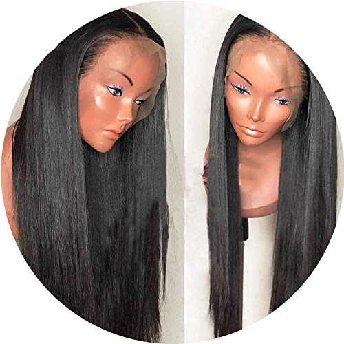 Silky Straight Pre Plucked Full Lace Human Hair Wigs With Baby Hair 130% Density Glueless Brazilian Full Lace Wig Non Remy,24inches
