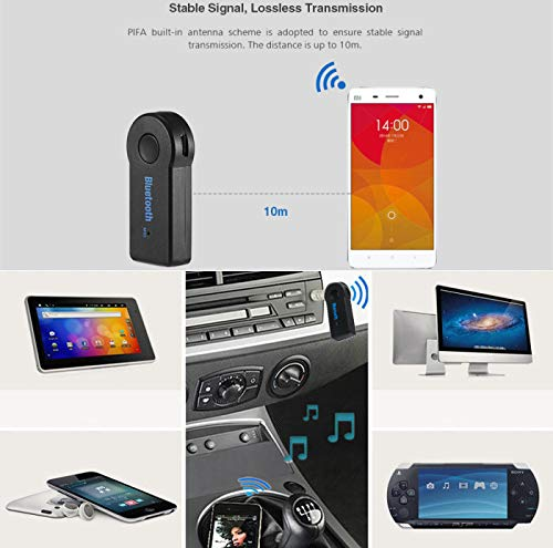 AODDING Bluetooth Receiver/Transmitter, Portable Wireless Audio HiFi Music Bluetooth Receiver Adapter with Handsfree Function Microphone for Home & Car Audio with 3.5 mm Stereo Output