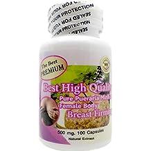 The Best Premium Pueraria Mirifica Powder Extract 100% Organic Natural Herbal 500mg 100 Vegetarian Capsules