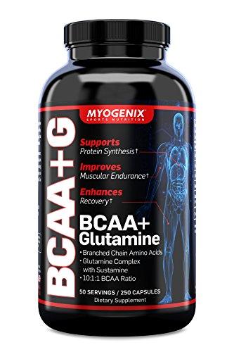 Myogenix Bcaa+Glutamine Supplement Blends, 250 Count Review