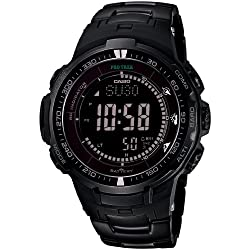 Casio PROTREK Black Titan Limited Series - Triple Sensor Ver.3 - Tough Solar - Multiband 6 Men's Watch PRW-3000YT-1JF (Japan Import)