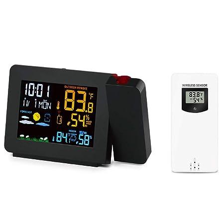 Reloj despertador de proyección digital Pantalla LED medición de ...