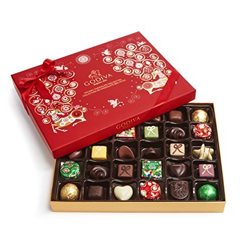 Godiva Chocolatier Assorted Chocolate Holiday Gift Box, 32 Piece