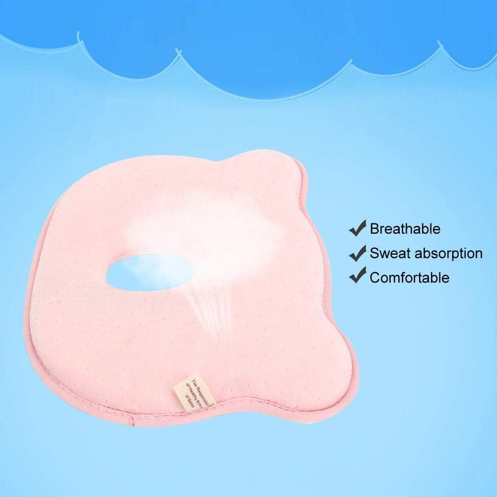 Amarillo almohada de apoyo para beb/és almohada para dormir almohada de forma suave para beb/és prevenir cabeza plana Almohada infantil reci/én nacida