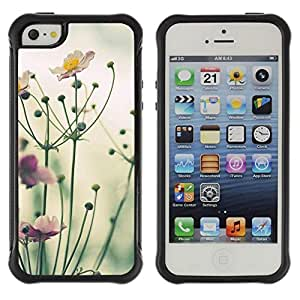 "Pulsar iFace Series Tpu silicona Carcasa Funda Case para Apple iPhone SE / iPhone 5 / iPhone 5S , Amarillo verde púrpura de la naturaleza Campo de Verano"""