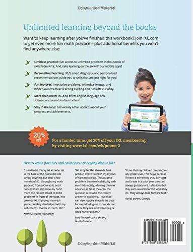 IXL Math Workbook, Grade 3: IXL Learning: 9781548655228: Amazon.com ...