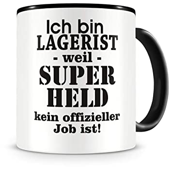 Samunshi Ich bin Lagerist Tasse Beruf Geschenk Kaffeetasse Teetasse Kaffeepott