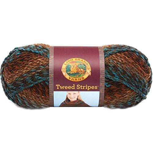 Price comparison product image Lion Brand Yarn 753-206U Tweed Stripes Yarn,  Woodlands