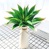 JUSTOYOU Plantas artificiales 30 cm de ancho, verde, toque real, plantas suculentas para jardín interior y exterior, decoración baño, verde: Amazon.es: Hogar